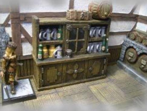 28mm Terrain: Tavern Cabinet