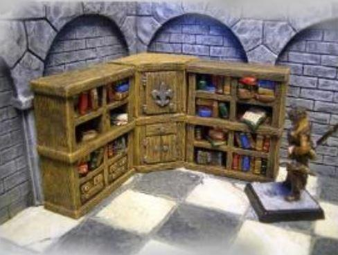 28mm Terrain: Bookshelf ''Libri'' 2 parts