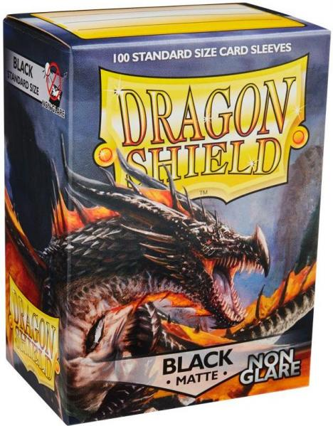 Dragon Shield Art Sleeves: Matte Non-Glare Black (100 Sleeves)