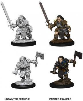 Pathfinder Minis: Female Dwarf Barbarian