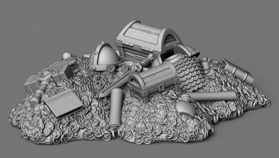 Tomb Guardians 28mm Miniatures: Treasure Hoard A