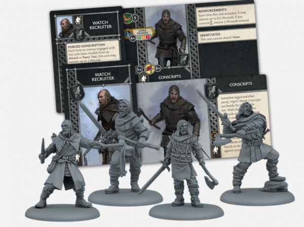 A Song of Ice & Fire: Tabletop Miniatures Game: Night's Watch Conscripts Unit Box