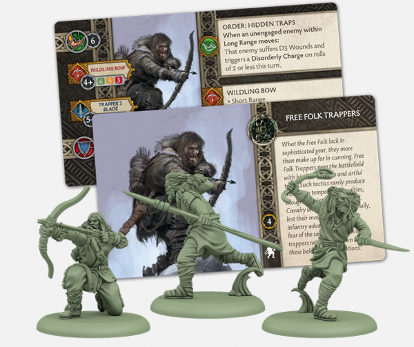 A Song of Ice & Fire: Tabletop Miniatures Game: Free Folk Trappers Unit Box
