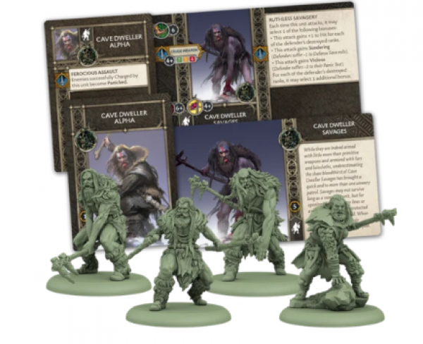 A Song of Ice & Fire: Tabletop Miniatures Game: Free Folk Cave Dweller Savages Unit Box