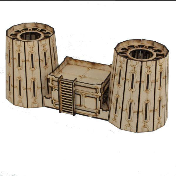 Laser Craft Workshop MDF Terrain: Nuclear Plant Cooling Towers