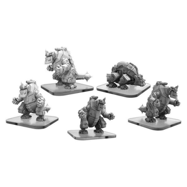 Monsterpocalypse: Carnitrons and Robo Brontox - Uber Corp International Unit (metal/resin)