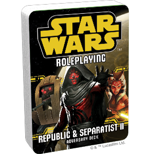 Star Wars RPG: Republic and Separatist II Adversary Deck