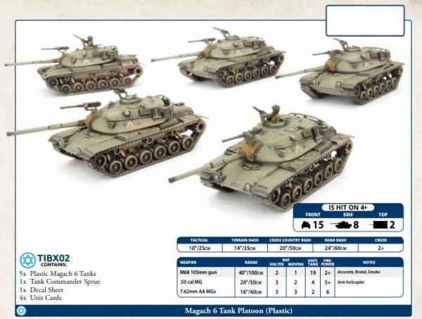 Flames of War: Team Yankee - Magach 6 Tank Platoon (x5) (Plastic)