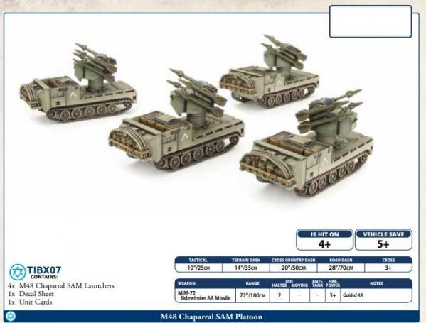 Flames of War: Team Yankee - M48 Chaparral SAM Platoon (x4)