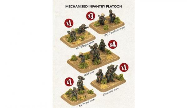 Flames of War: Team Yankee - Mechanised Infantry Platoon (x33 figures)