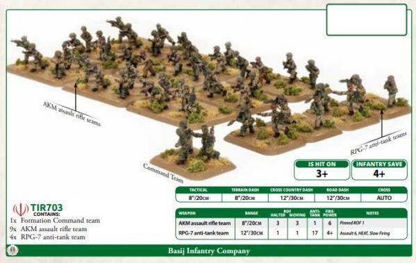 Flames of War: Team Yankee - Basij Infantry Company (x47 figures)