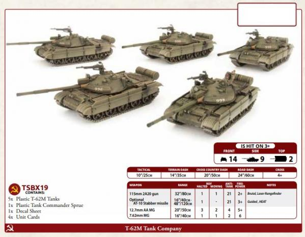 Flames of War: Team Yankee - T-62 Tank Company (x5) (Plastic)