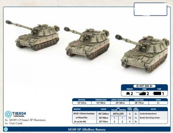 Flames of War: Team Yankee - M109 SP Artillery Battery (x3)