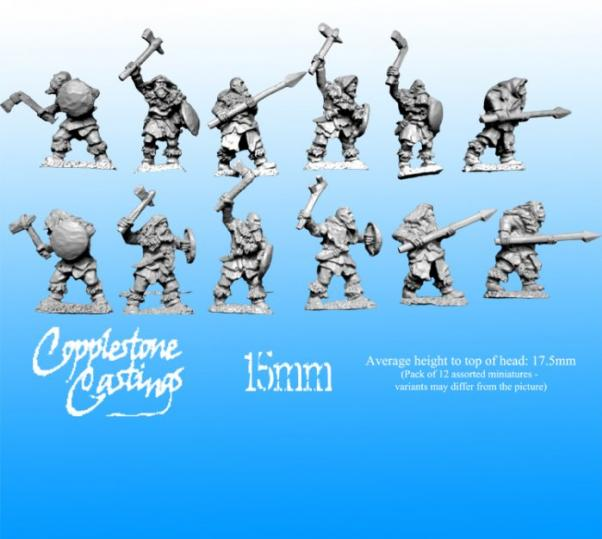 15mm Barbarica Fantasy: Ice Tribe Warriors