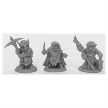 Reaper Bones Black: Deep Gnome Warriors (3)