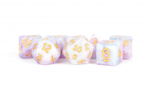 Polyhedral Dice Set: (Resin) Lavender (7 die set)
