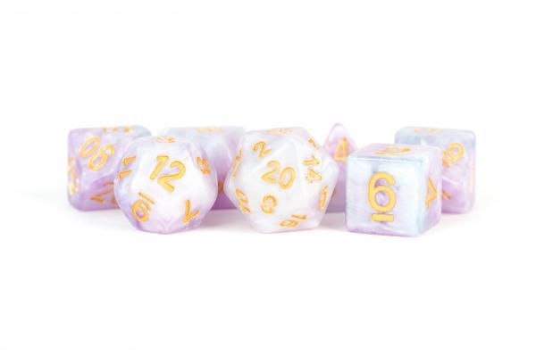 Polyhedral Dice Set: (Resin) Lavender (7 die set)
