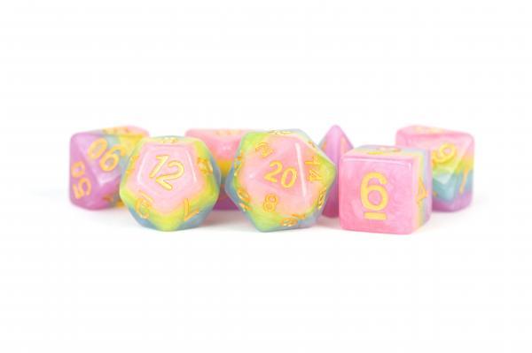 Polyhedral Dice Set: (Resin) Pastel Fairy (7 die set)