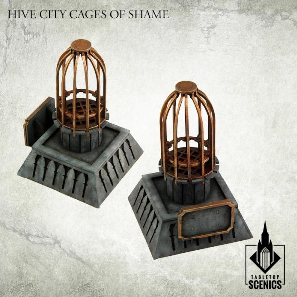 Kromlech Tabletop Scenics: Hive City Cages of Shame