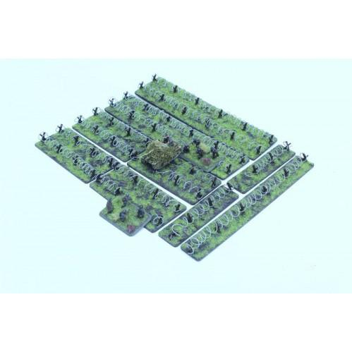 15mm Scenery: 15mm Barbed Wire Sections