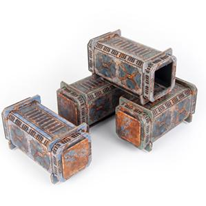 TinkerTurf Sci-Fi Terrain - Containers - Abandoned Theme