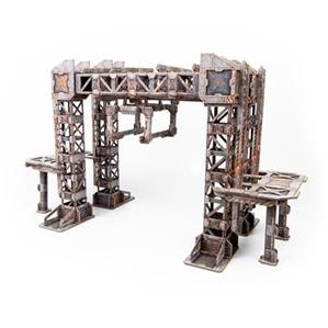 TinkerTurf Sci-Fi Terrain - MagLev Depot - Abandoned Theme
