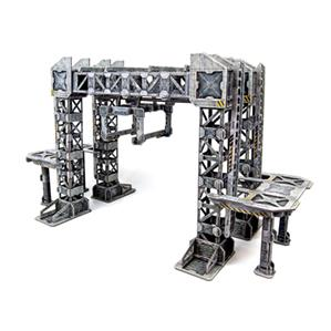 TinkerTurf Sci-Fi Terrain - MagLev Depot - Neutral Theme