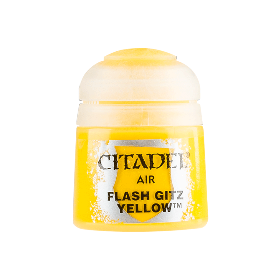 Citadel Airbrush Paints: Flash Gitz Yellow Air (24ML)