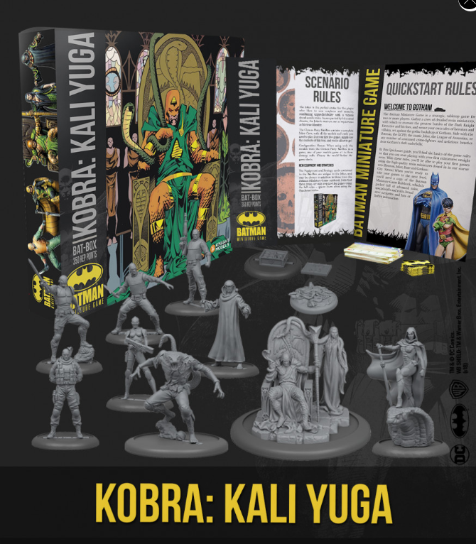 Batman Miniature Game: Kobra Kali Yuga Bat Box Set