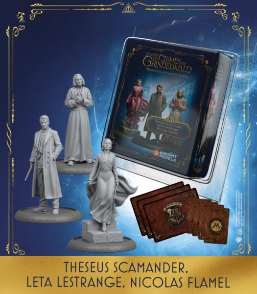 Harry Potter Miniature Game: THESEUS SCAMANDER, LETA LESTRANGE, NICOLAS FLAMEL