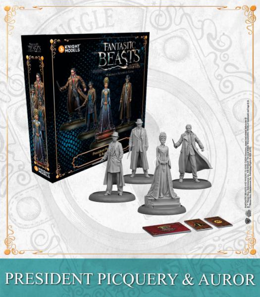 Harry Potter Miniature Game: PRESIDENT PICQUERY & AURORS