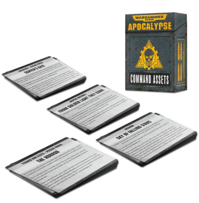WH40K: APOCALYPSE COMMAND ASSETS CARDS