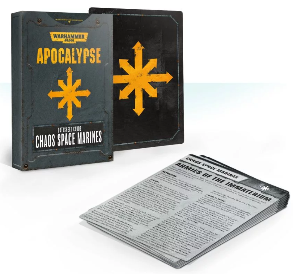 WH40K: APOCALYPSE DATASHEET CARDS: CHAOS SPACE MARINES