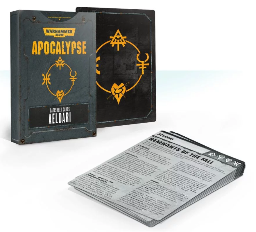 WH40K: APOCALYPSE DATASHEET CARDS: AELDARI