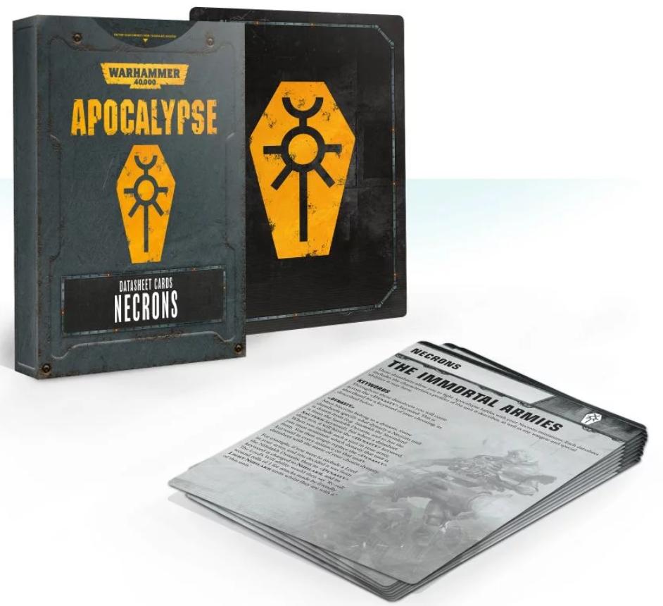 WH40K: APOCALYPSE DATASHEET CARDS: NECRONS