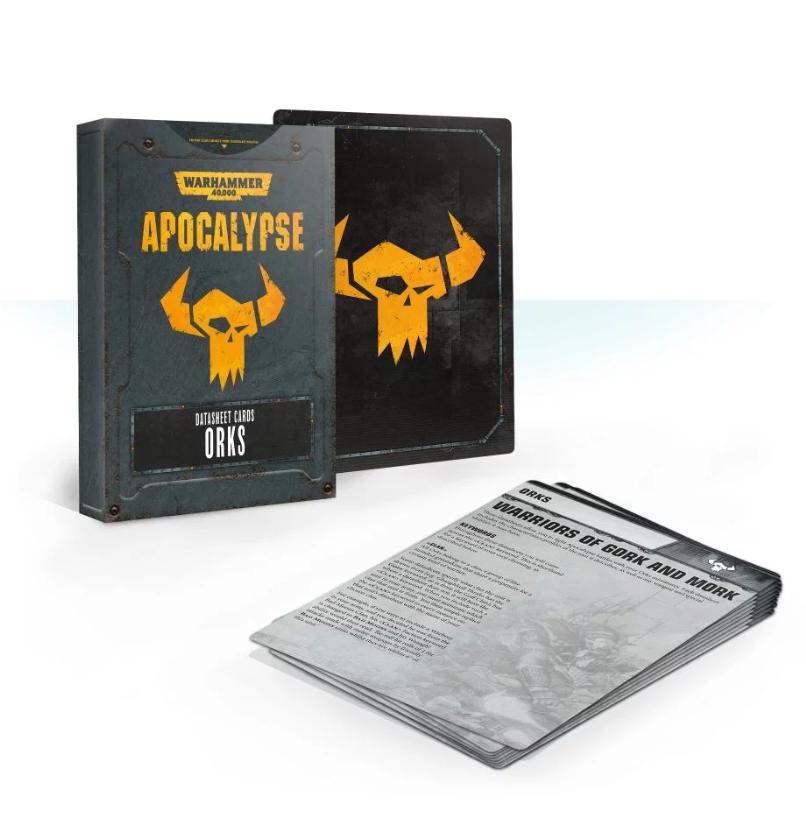 WH40K: APOCALYPSE DATASHEET CARDS: ORKS