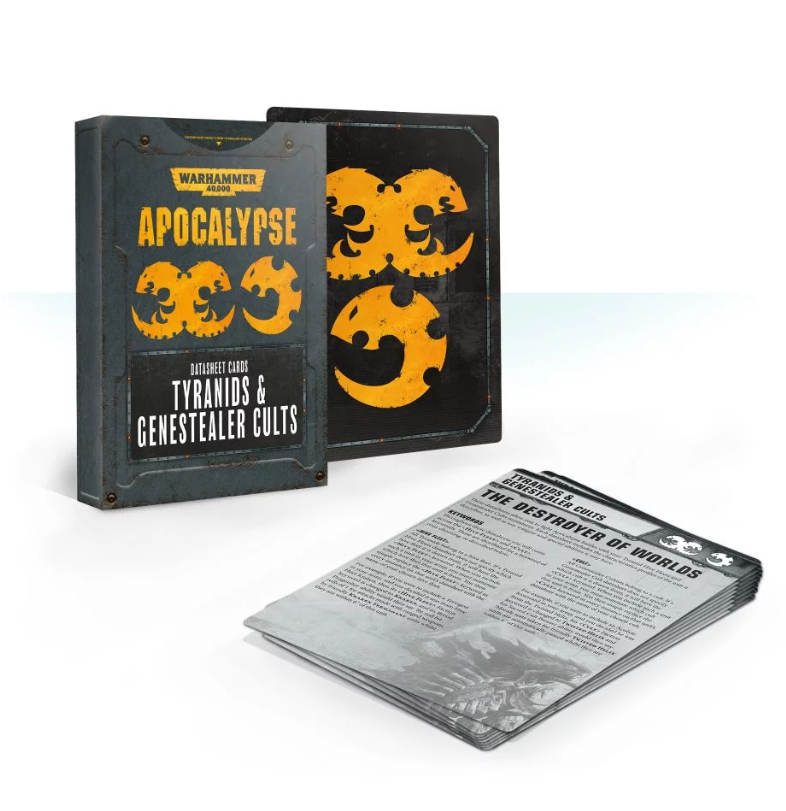 Warhammer 40K:  Apocalypse Datasheets - Tyranids and Genestealer Cults Cards