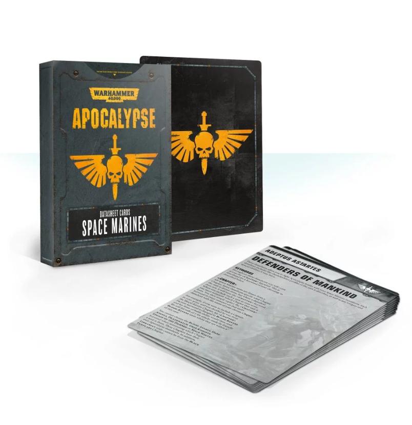 WH40K: APOCALYPSE DATASHEET CARDS: SPACE MARINES
