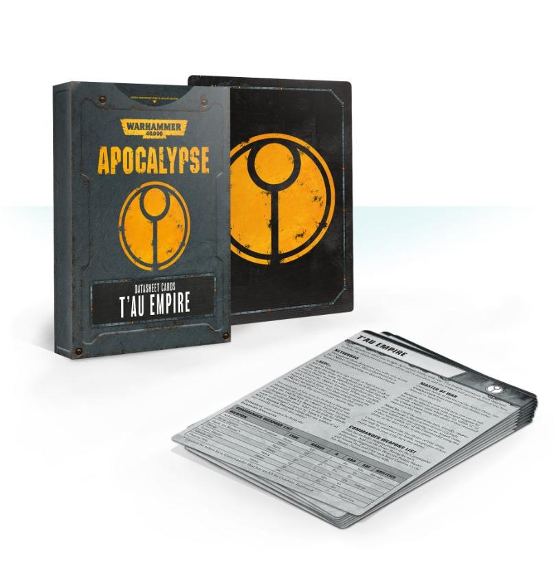 Warhammer 40K: Apocalypse Datasheets - T'au Empire Cards