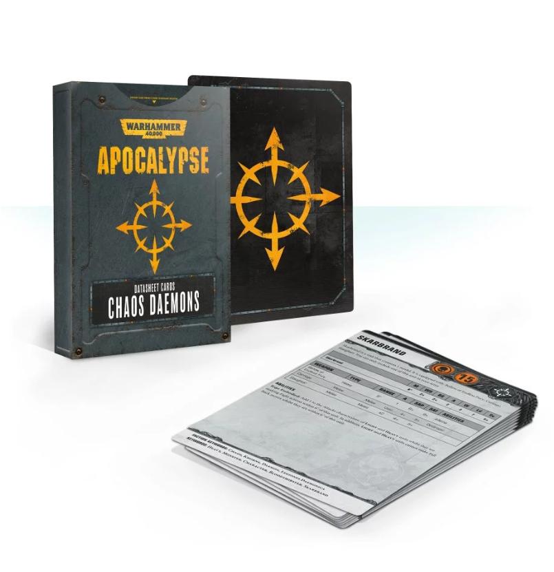 WH40K: APOCALYPSE DATASHEET CARDS: CHAOS DAEMONS