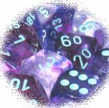 Chessex Lab Dice: Nebula™ Nocturnal/blue 7-Die Set