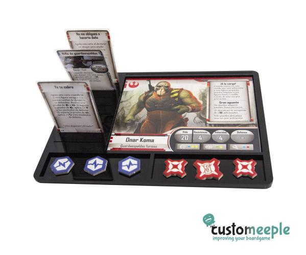 Star Wars Imperial Assault: Character Tray (black acrylic)