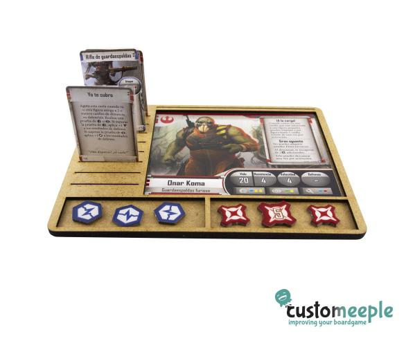 Star Wars Imperial Assault: Character Tray (MDF)