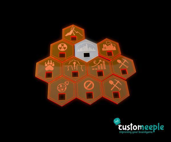 Board Game Accessories: Terraforming Mars Compatible Special Tile (11 Units)