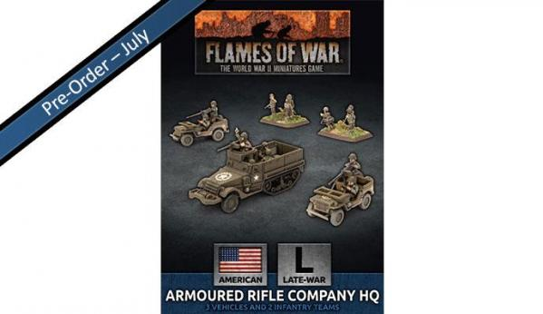 Flames Of War (WWII): (USA) Armored Rifle Company HQ (Plastic)
