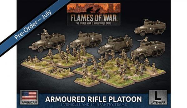 Flames Of War (WWII): (USA) Armored Rifle Platoon (2019) (Plastic)