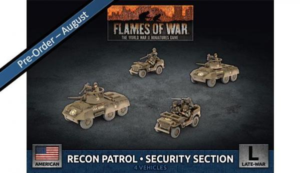 Flames Of War (WWII): (USA) Recon Patrol Security Section (x4 Plastic)