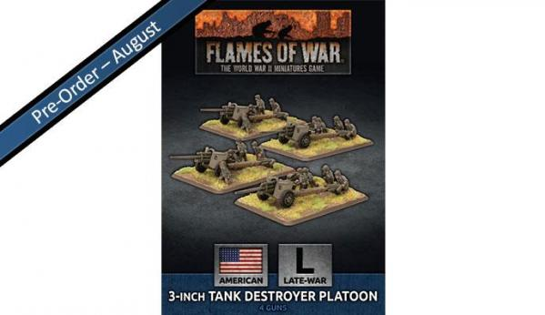 Flames Of War (WWII): (USA) 3 inch Towed Tank Destroyer Platoon (x4)