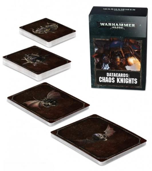 WH40K: Chaos Knights Datacards