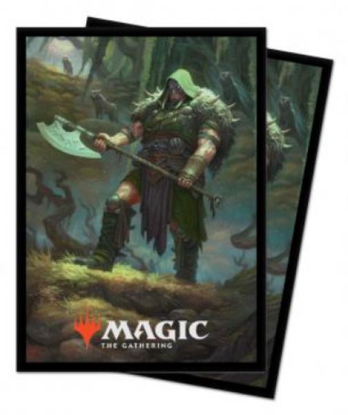 Magic: Throne of Eldraine Standard Deck Protectors - Garruk, Cursed Huntsman (100)